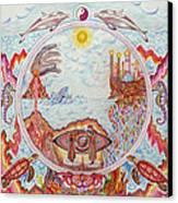 Mandala Atlanits Canvas Print by Lida Bruinen