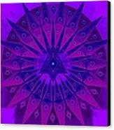 Mandala For Ca Symptoms Canvas Print by Sarah  Niebank