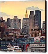Manhatan Ny  Canvas Print by Emmanuel Panagiotakis