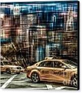 Manhattan - Yellow Cabs - Future Canvas Print by Hannes Cmarits