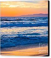 Manhattan Beach Sunset Canvas Print by Inge Johnsson