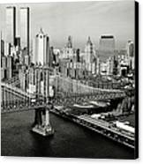 Manhattan Bridge Canvas Print by Benjamin Yeager