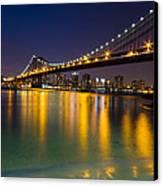 Manhattan Bridge Canvas Print by Mircea Costina Photography