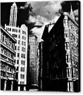 Manhattan Highlights B W Canvas Print by Benjamin Yeager
