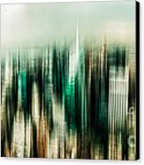 Manhattan Panorama Abstract Canvas Print by Hannes Cmarits
