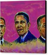 M.a.n...malcolm- Obama- Martin Canvas Print by Tommy  Winn
