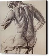Man's Back Canvas Print by Sarah Parks