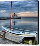 Manteo Waterfront 2 Canvas Print by Mel Steinhauer