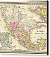 Map Of Mexico Canvas Print by Gary Grayson