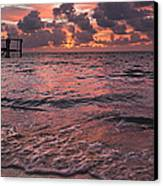 Marathon Key Sunrise Panoramic Canvas Print by Adam Romanowicz