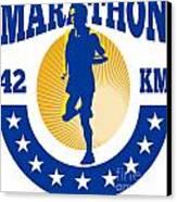 Marathon Runner Athlete Running Canvas Print by Aloysius Patrimonio