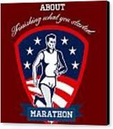 Marathon Runner Finish What You Start Poster Canvas Print by Aloysius Patrimonio