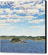 Marblehead View Canvas Print by Elaine Farmer