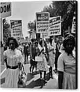 March For Equality Canvas Print by Benjamin Yeager
