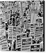 March On Washington Canvas Print by Benjamin Yeager