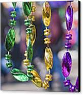 Mardi Gras Beads Canvas Print by Ray Devlin