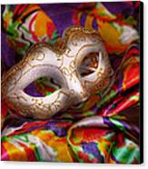 Mardi Gras - Celebrating Mardi Gras  Canvas Print by Mike Savad