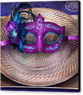 Mardi Gras Theme - Surprise Guest Canvas Print by Mike Savad