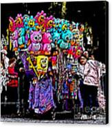 Mardi Gras Vendor's Cart Canvas Print by Marian Bell