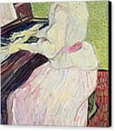 Marguerite Gachet At The Piano Canvas Print by Vincent Van Gogh