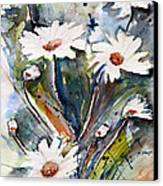 Marguerites Canvas Print by Ismeta Gruenwald