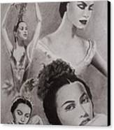 Maria Tallchief Canvas Print by Amber Stanford