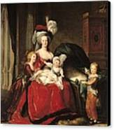 Marie Antoinette And Her Children Canvas Print by Elisabeth Louise Vigee-Lebrun