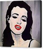 Marilyn Monroe Aka Norma Jean Artistic Impression Canvas Print by Saundra Myles