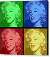 Marilyn Monroe Colored Frame Pop Art Canvas Print by Daniel Hagerman