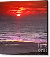 Marine Sunset Canvas Print by Robert Bales