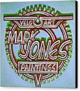 Mark Jones Velo Art Painting Blue Canvas Print by Mark Howard Jones