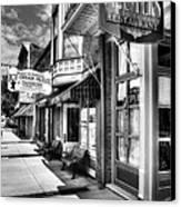 Mark Twain's Town Bw Canvas Print by Mel Steinhauer
