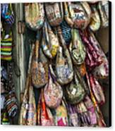 Market Bags 2 Canvas Print by Brenda Bryant