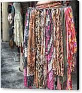 Market Scarves Canvas Print by Brenda Bryant