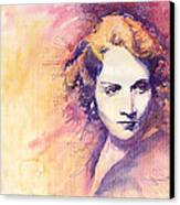 Marlen Dietrich 1 Canvas Print by Yuriy  Shevchuk