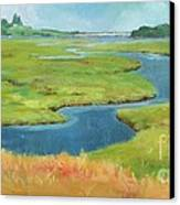 Marshes At High Tide Canvas Print by Claire Gagnon