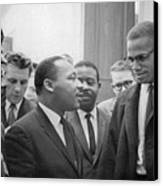 Martin Luther King Jnr 1929-1968 And Malcolm X Malcolm Little - 1925-1965 Canvas Print by Marion S Trikoskor