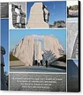 Martin Luther King Jr Memorial Collage 1 Canvas Print by Allen Beatty