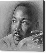 Martin Luther King Jr Canvas Print by Ylli Haruni