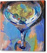 Martini Oil Painting Canvas Print by Michael Creese