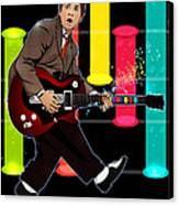 Marty Mcfly Plays Guitar Hero Canvas Print by Akyanyme