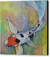 Maruten Butterfly Koi Canvas Print by Michael Creese