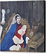 Mary And Baby Jesus Canvas Print by Linda Clark