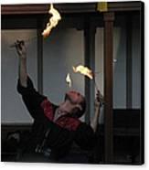 Maryland Renaissance Festival - Johnny Fox Sword Swallower - 1212102 Canvas Print by DC Photographer