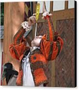 Maryland Renaissance Festival - Johnny Fox Sword Swallower - 121244 Canvas Print by DC Photographer