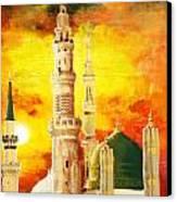 Masjid E Nabwi Canvas Print by Catf