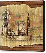 Masjid E Nabwi Sketch Canvas Print by Catf