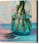 Mason Jar Vase Canvas Print by Kay Pickens