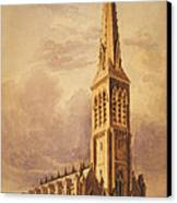 Masonry Church Circa 1850 Canvas Print by Aged Pixel
