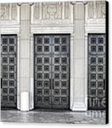 Massive Doors Canvas Print by Olivier Le Queinec